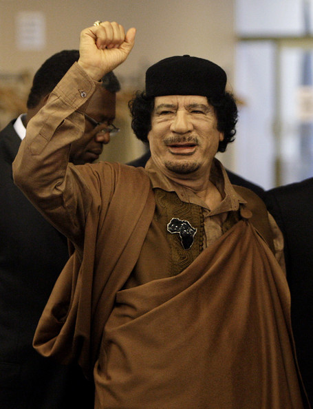 Muammar+al+Gaddafi+World+Leaders+Attend+