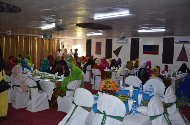 Somali ladies at a wedding in Mogadishu.