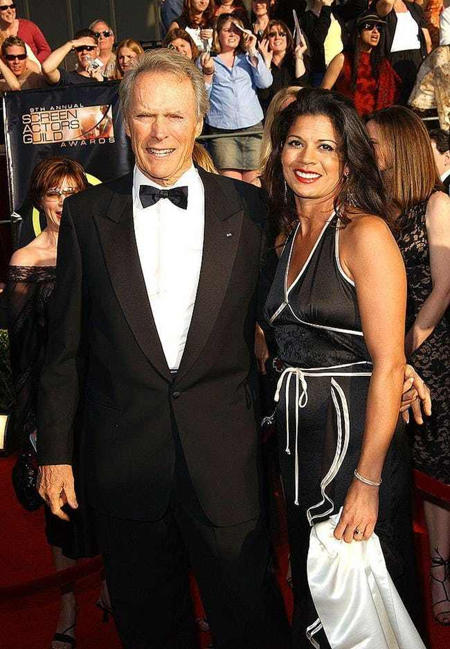 Clint Eastwood is listed (or ranked) 4 on the list 29 Famous Men Who Married Much Younger Women