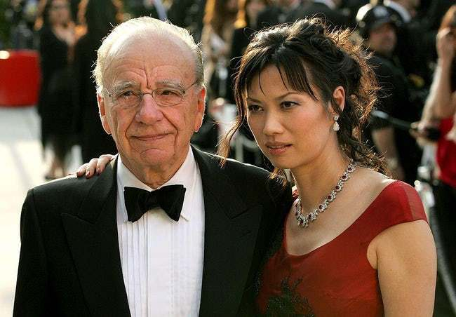 Rupert Murdoch is listed (or ranked) 16 on the list 29 Famous Men Who Married Much Younger Women