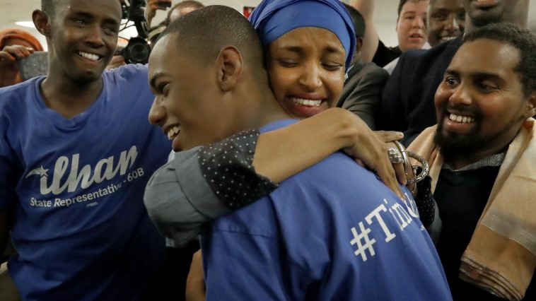 Ilhan Omar was greeted by supporters at Kalsan in Minneapolis.             ] CARLOS GONZALEZ  cgonzalez@startribune.com - August 9, 2016, Minneapolis, MN, A handful of sitting legislators faced tough primary challenges this year, including Reps. Phyllis Kahn, Joe Mullery, Kurt Daudt and Rena Moran.